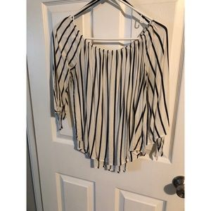 Forever 21 Striped Shirt with Sleeve Ties